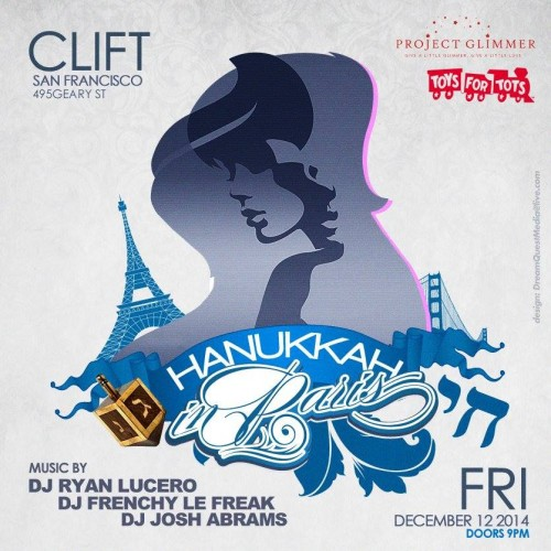 San Francisco's Clift Hotel's  Hannukah In Paris Charity Event