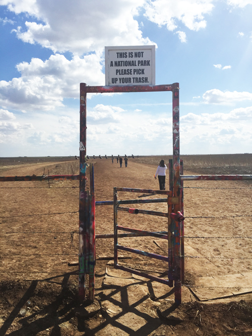 Cadillac Ranch Along Route 66 In Amarillo Texas The Jetsetting