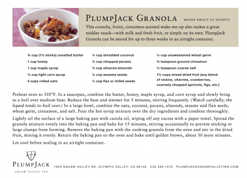 Plumpjack Squaw Valley Brunch