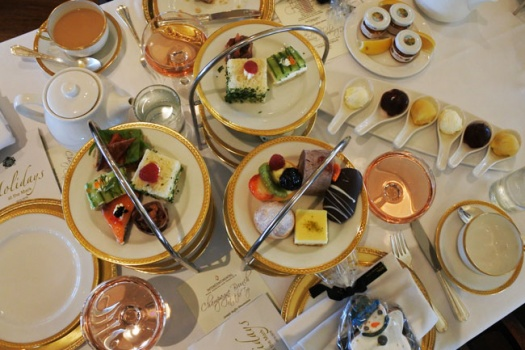 Holiday Tea at San Francisco's Top Of The Mark Intercontinental Hotel