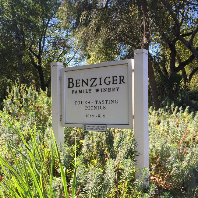 benziger family winery Benziger family winery and other dog-friendly wineries and vineyards and other places to take your pet in sonoma wine country california.