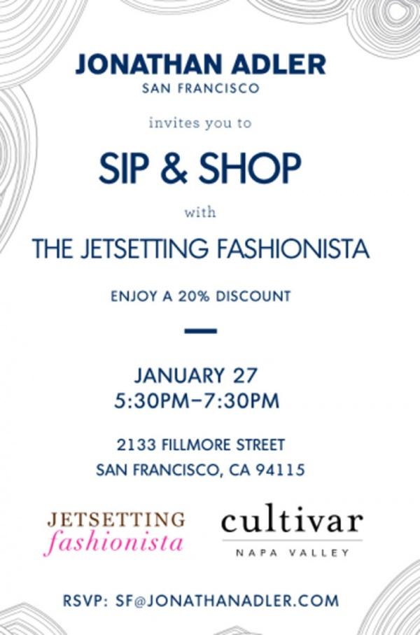 Jonathan Adler Sip & Shop