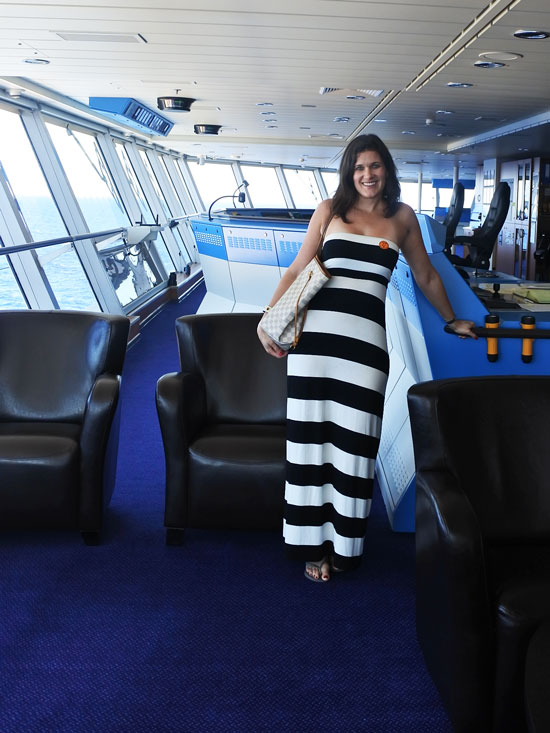 A Bridge Tour With The Captain Of The Celebrity Cruises