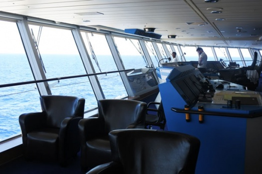 A Bridge Tour With The Captain of The Celebrity Cruises Reflection Ship
