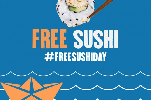 Today is P.F. Chang's National Free Sushi day, hurry in to enjoy!